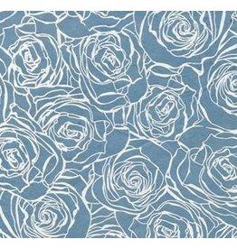 NE835 Lokta papier met rozenprint