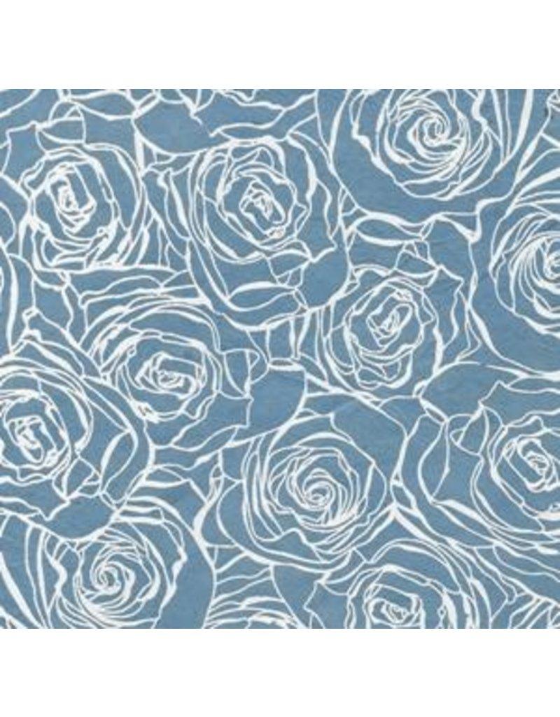 Lokta papier met rozenprint