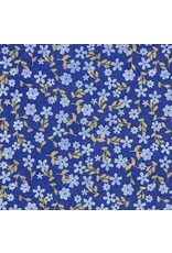Lokta paper small flowers in white and gold