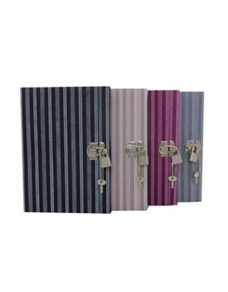 Diary with stripes print