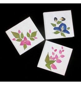 TH178 Notebook Maulbeerpapier mit Blumendekoration