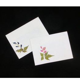 TH179 Set of 10 gift envelopes with flowers, 22x16 cm