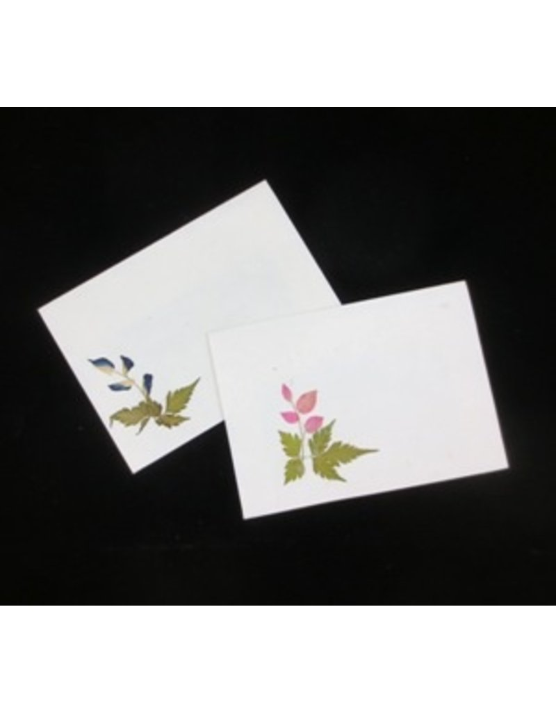 Set of 10 gift envelopes with flowers, 22x16 cm