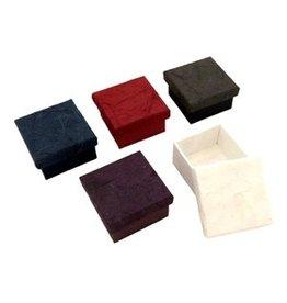 TH281 Ensemble de 4 petites boîtes ecorce