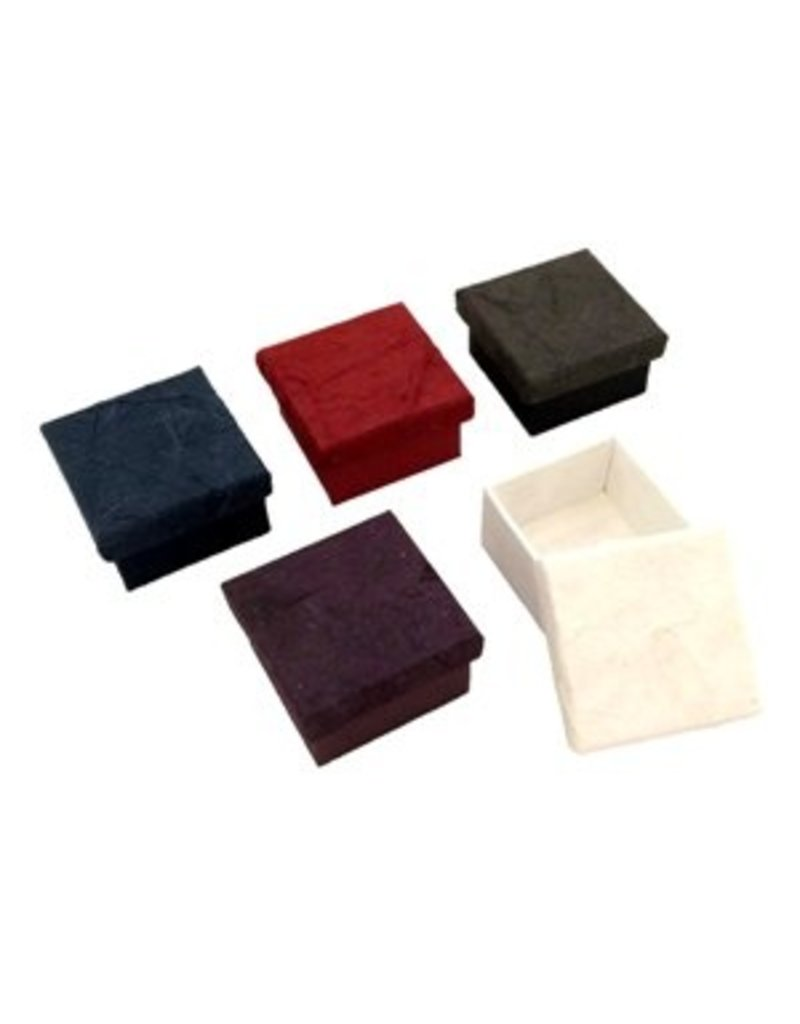 Ensemble de 4 petites boîtes ecorce
