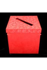 Boîte de collection, pliable, avec impression en relief de roses.