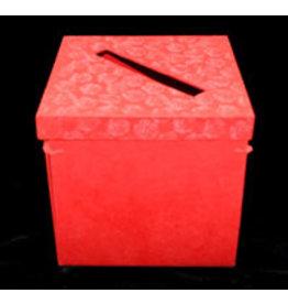 TH489 boîte argenta©e pliable impression roses relief