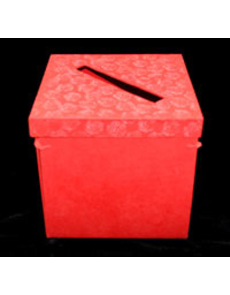 Collection box, foldable with rose embossed print.