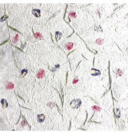 TH826 Papier de mûrier melange de fleurs