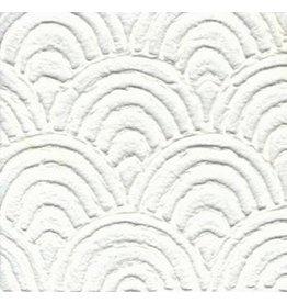 TH909 Papier de mûre avec des éventails en relief