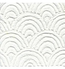 TH909 Papier Mulberry éventail en relief