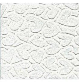 TH911 papier mulberry coeurs en relief