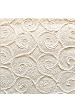Mulberry paper with embossed curls