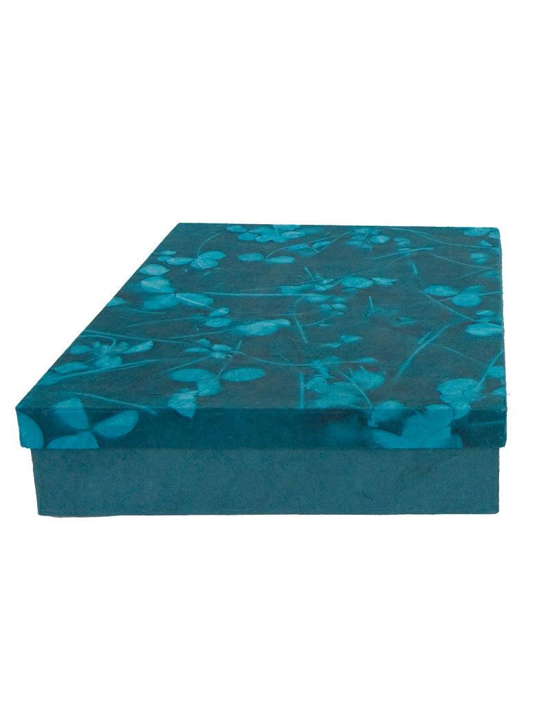 Set doos en register met bladprint