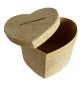 TH697 Boîte d'écorce d'arbre en forme de cœur