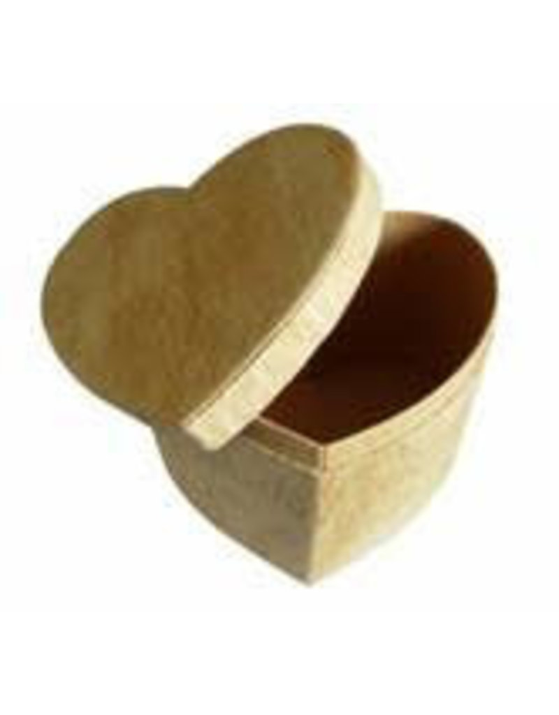 Boîte d'écorce d'arbre en forme de cœur