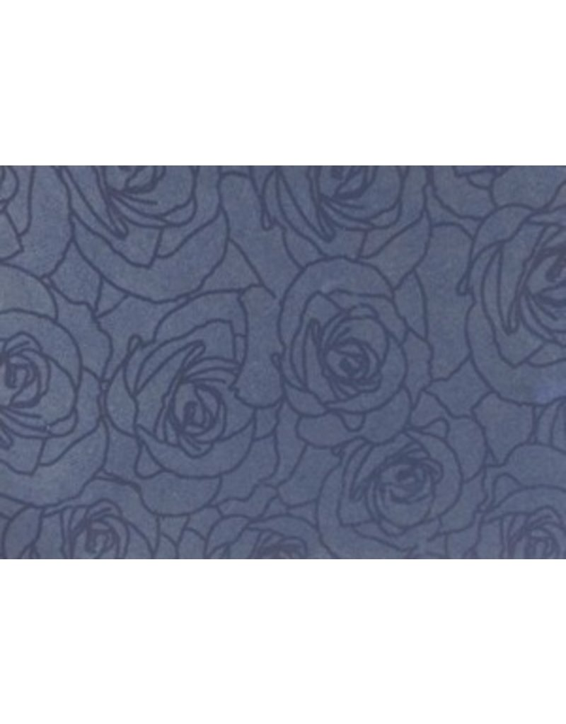 Condolence Register rose-print contour