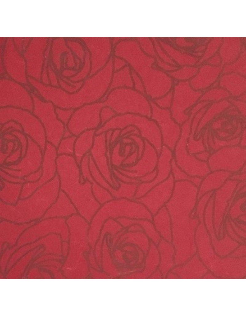 Memory keepsake box with rose contourprint