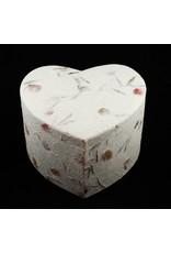 Enveloppendozen / bewaardozen in hartvorm nest van 3