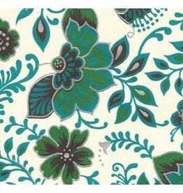 AE160 Katoenpapier bloemenfantasie.