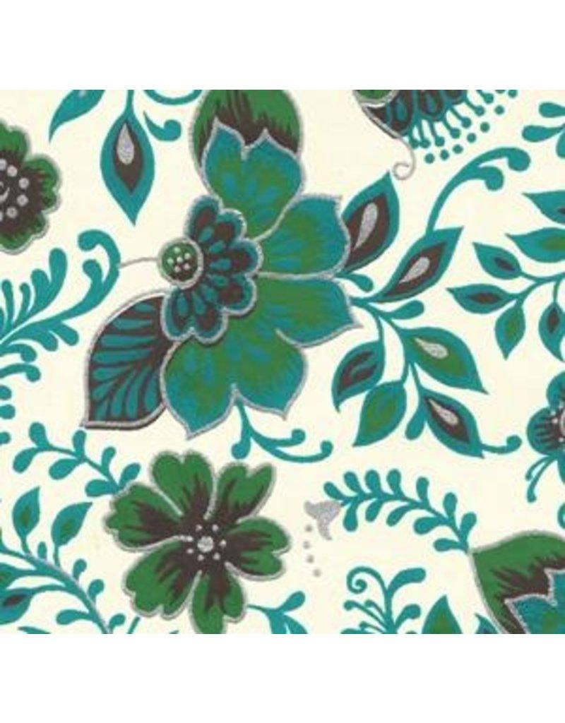 Papier de coton floral fantaisie.