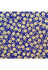Papier leurre avec petite impression de fleurs dorées