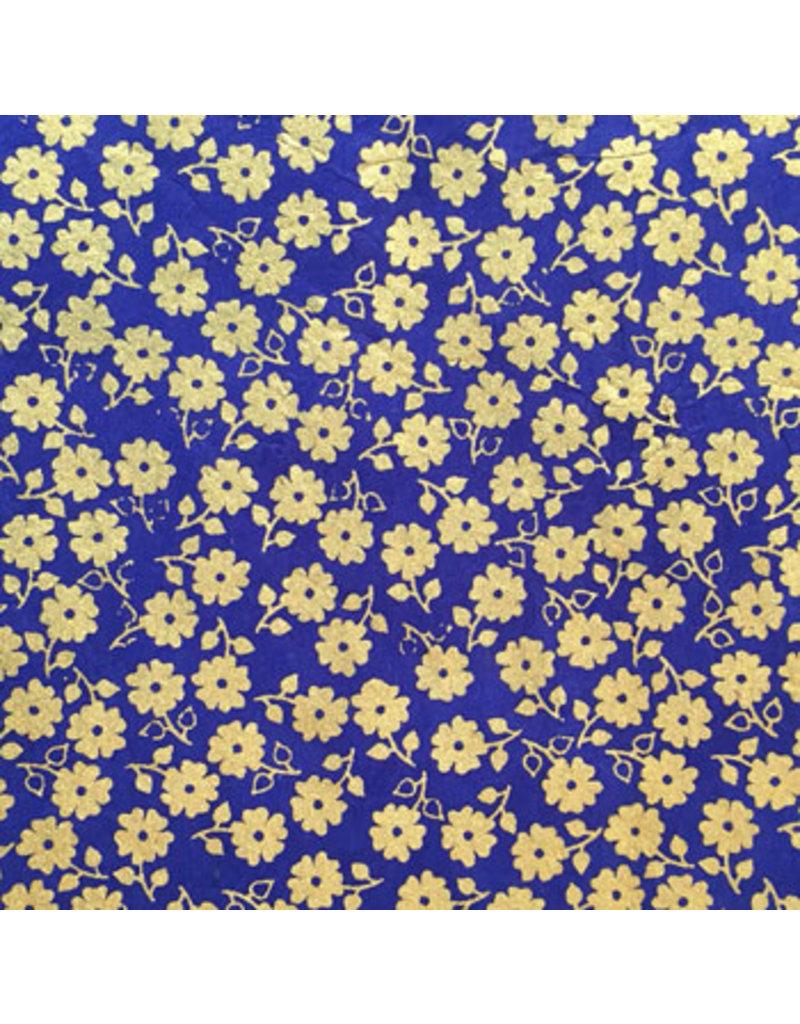Lockenpapier mit kleinem goldenen Blumendruck