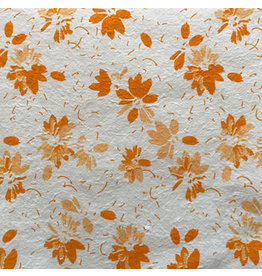 TH955 .Mulberry paper with printed flowers