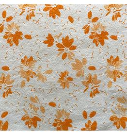 TH955 Mulberrypapier met print van bloemen.