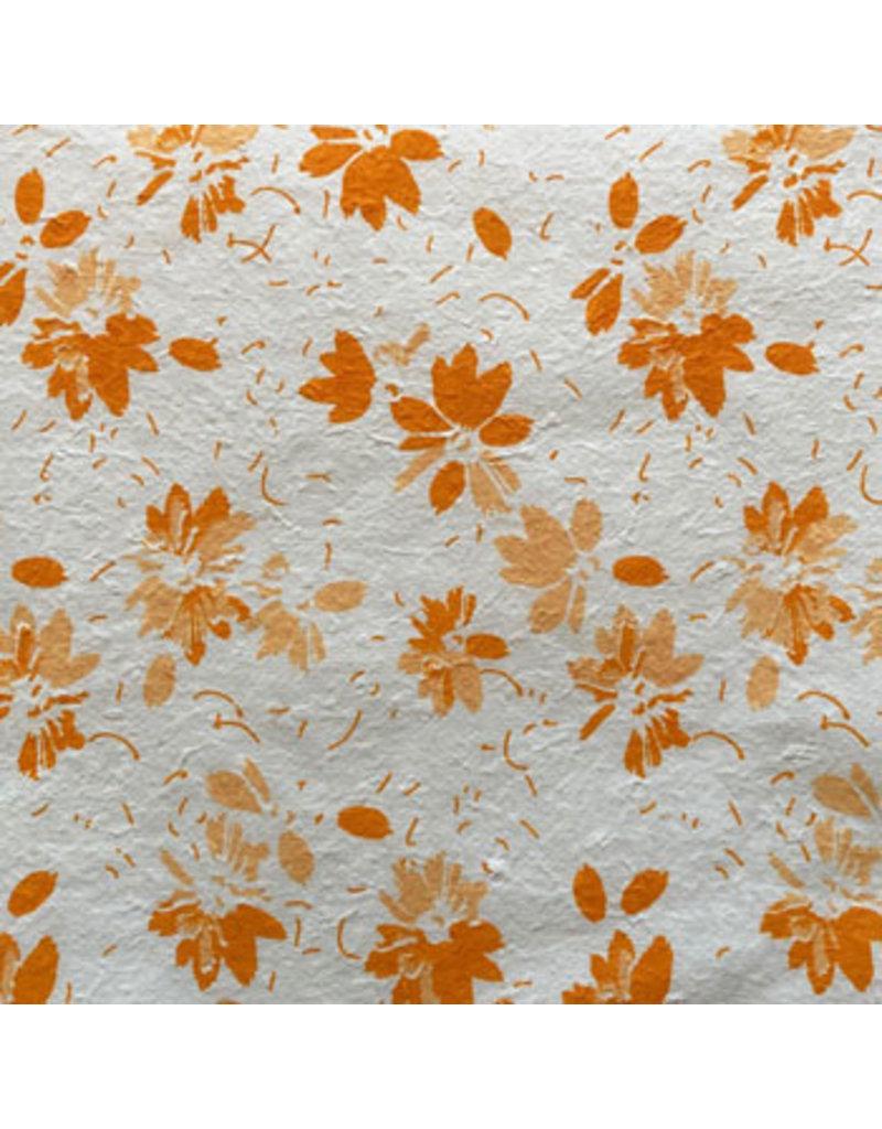 Maulbeerpapier mit aufgedruckten Blumen