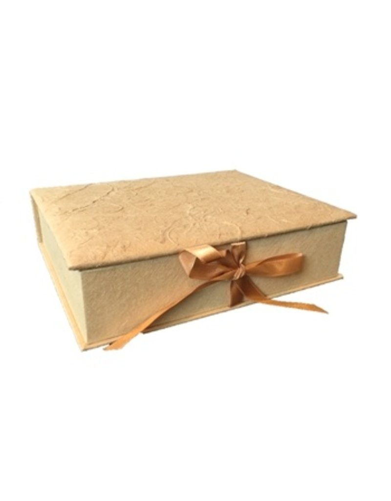 Box fibres d'ecorcee, ruban satin