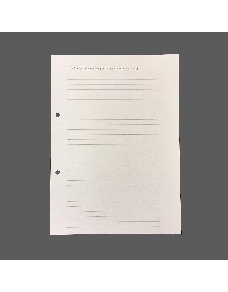 set of 100 sheets
