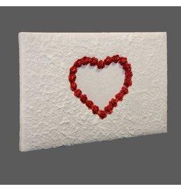 TH160 Gastenboek hart van roosjes