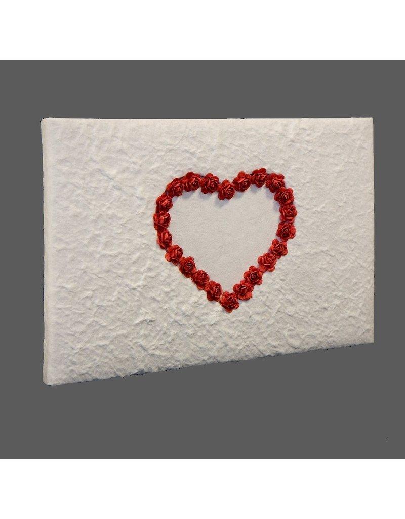 Gastenboek hart van roosjes