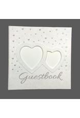 Gastenboek met zilveren hartjes