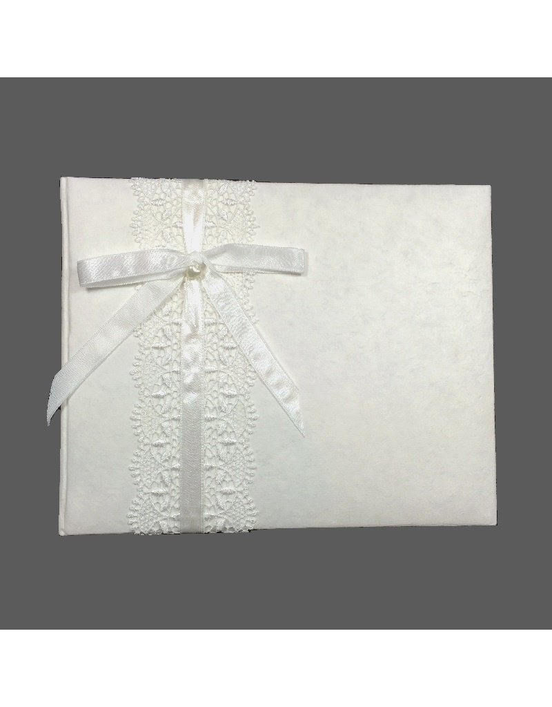 Album with lace ribbon and bow