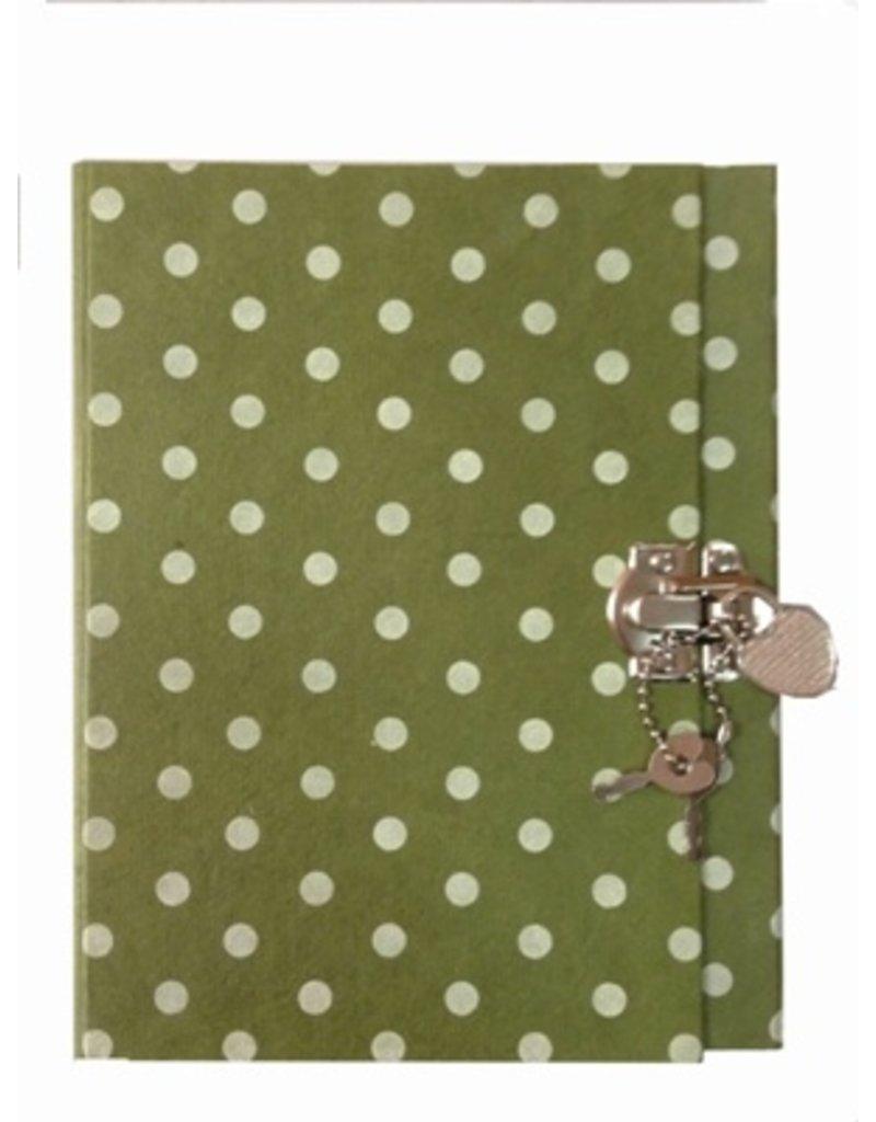 Dagboek met stippen/print