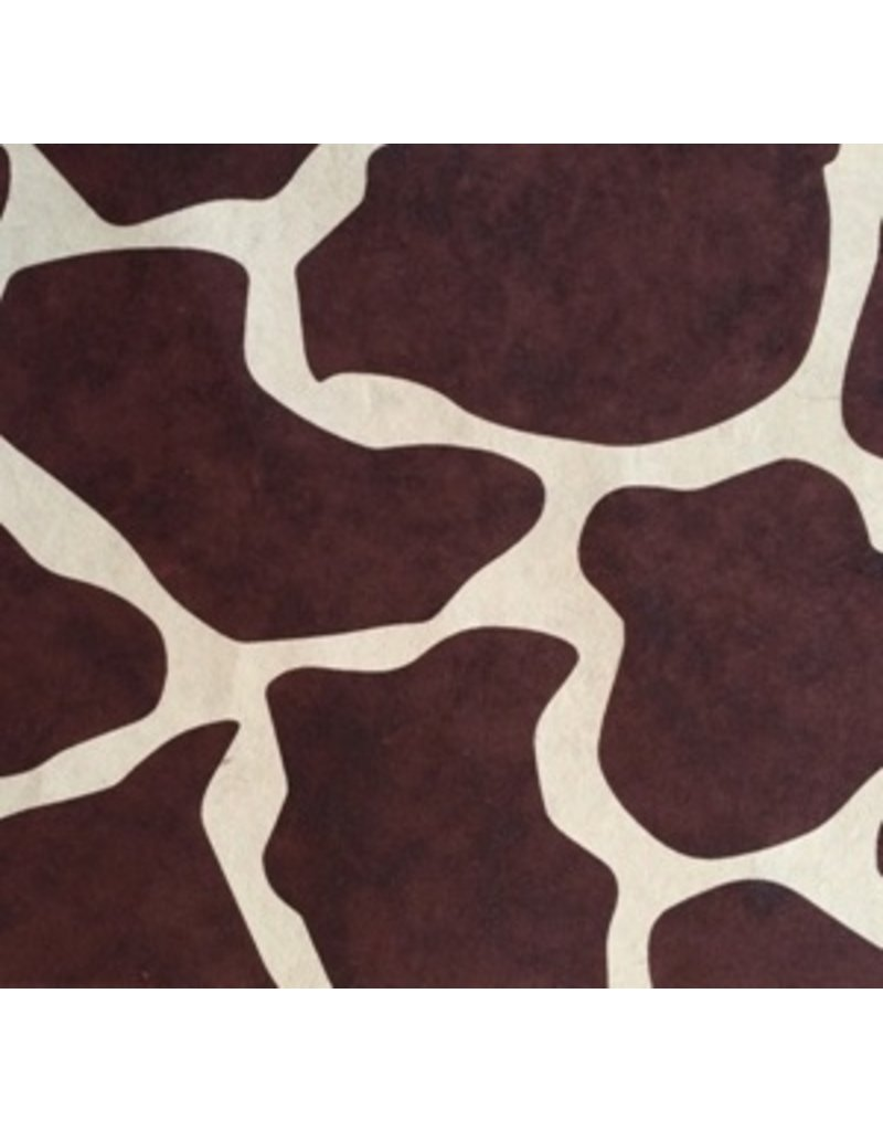 Mulberry paper with giraffe print