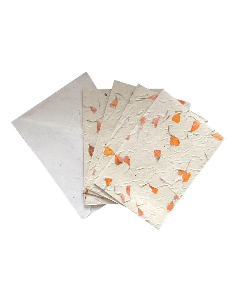 4 cards/envelops with flowers