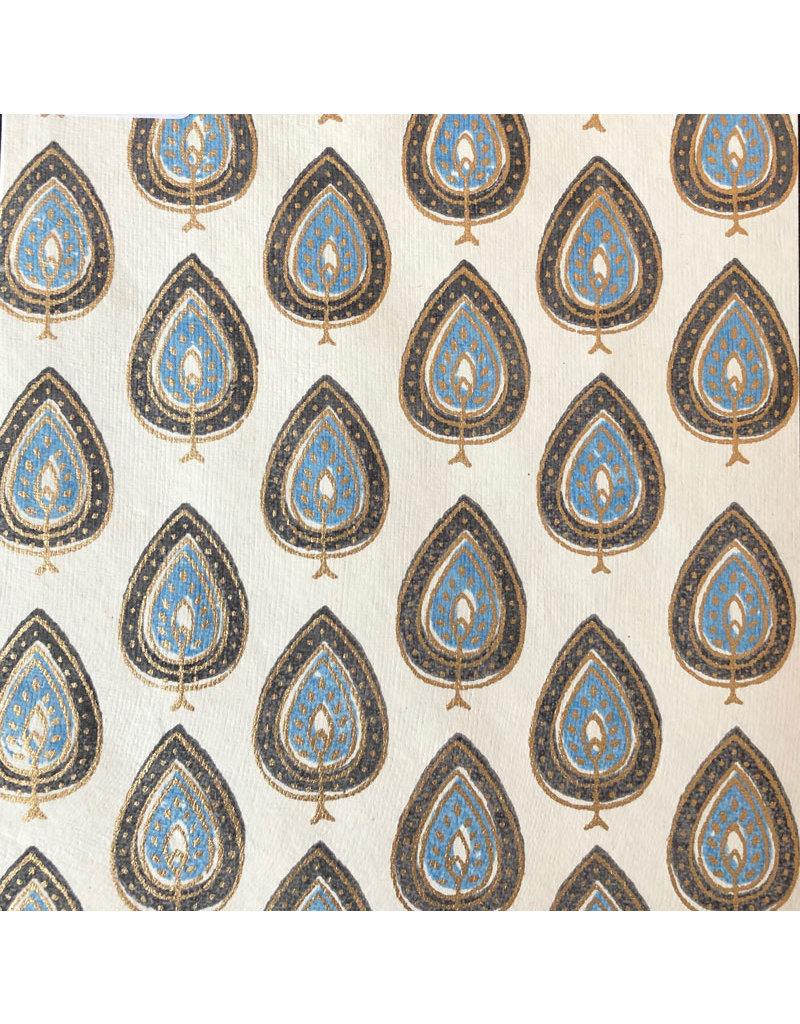 Coton, motif des feuilles