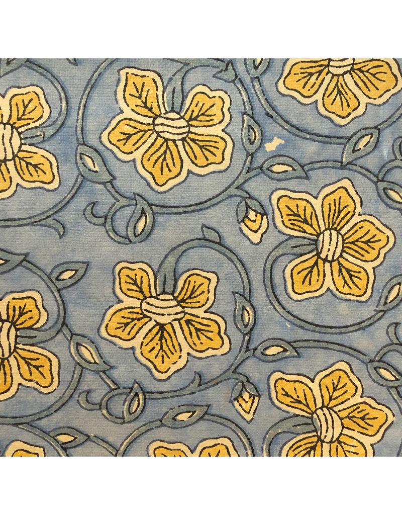 Baumwollpapier, Blumenaufdruck