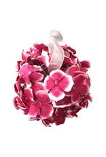 Ampoule de fleurs de papier de murier.