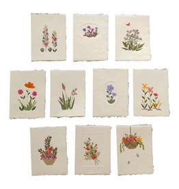 PN221 Set 20 cards/envelopes floral decoration