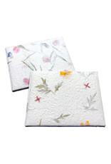 Livre d'or , papier de mûrier avec fleurs