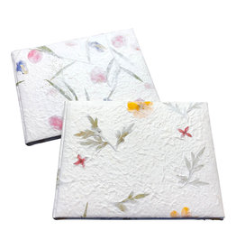 TH775 Guestbook mulberry flowerpaper.