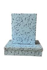 Set van register en doos met sterrenprint