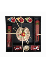 Geschenkverpackung Weihrauchhalter und Kerzen