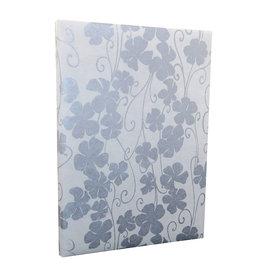 TH169 Gaestebuch mit Blumenmuster in Silber