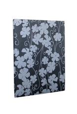 Gastenboek bloemdessin in zilver
