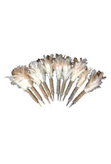 Set of 10 pens with feather and glitters